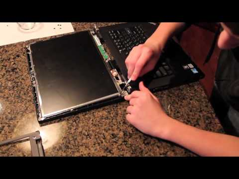 Laptop Screen Replacement / How To Replace Laptop Screen Lenovo T500