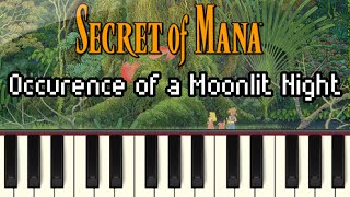 Occurrence of a Moonlit Night - Secret of Mana [Synthesia]