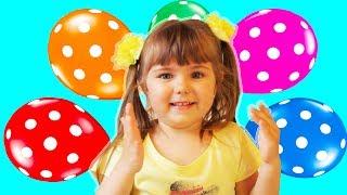 Учим Цвета С Разноцветными Шариками Лопаем Воздушные Шарики