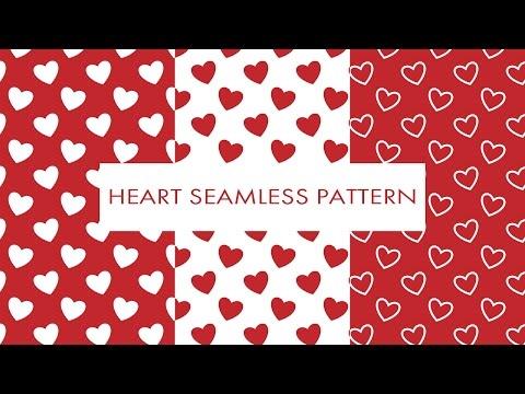 Illustrator Short Tutorial #5 Heart Seamless Pattern