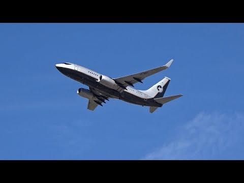 *Rare* Longtail Aviation Boeing 737-7BC(BBJ)(VP-BRT) departing Las Vegas!
