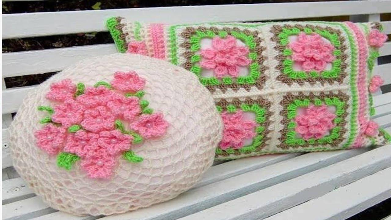 N 01 fundas y cojines tejidos a crochet galer a de fotos - Cojines hechos a mano ...