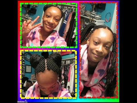 Jamya getting her hair & nail's done  for school *Saturday afternoon* 8-5-17