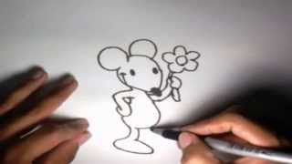 Como dibujar un Ratón l How to draw a Mouse