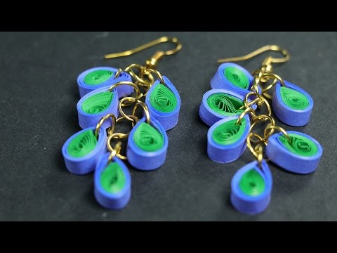 Pretty Peacock Quilling: How to Make Paper Quilling Peacock Earrings