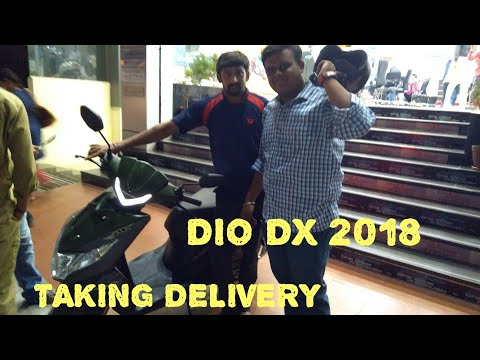 Honda dio dx  2018 edition  taking delivery