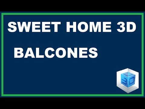 curso de sweet home 3d capitulo 2 balcones youtube. Black Bedroom Furniture Sets. Home Design Ideas