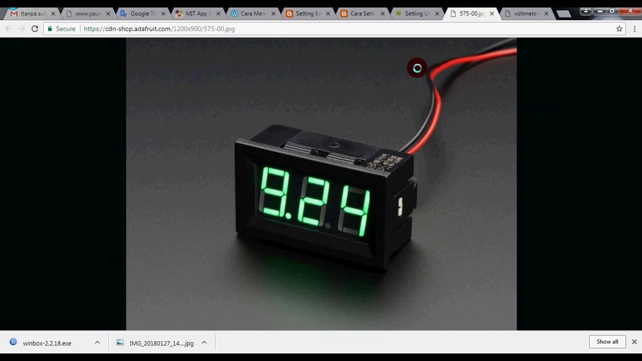 Cara Merubah VOLTMETER Digital 2 Kabel Menjadi 3 Kabel - YouTube