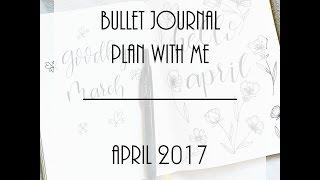 april bullet journal plan with me