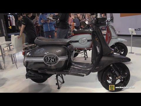 2016 Scomadi Turismo Legera 125 Carbon Scooter - Walkaround - 2015 EICMA Milan