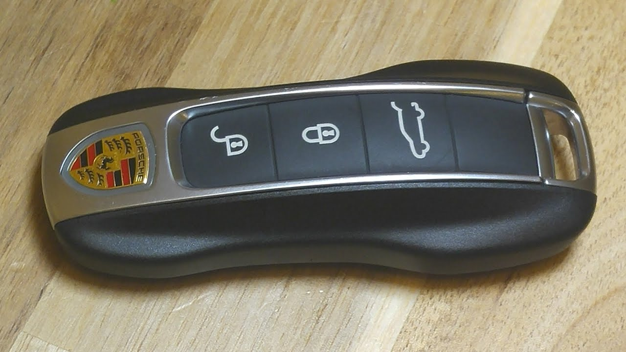 2017-2019 Porsche Panamera Cayenne Remote Key Fob Battery Replacement -  EASY DIY - YouTube