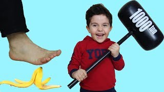 Yusuf pretend play with toys-Funny Kids Video-Oyuncu Yusuf