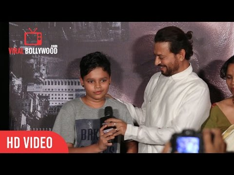 Irrfan Introducing His Son Ayaan | MADAARI...