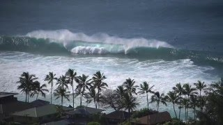 Perfect Storm Swells Hit North Shore Hawaii