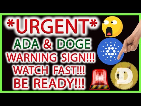⚠️ WARNING SIGN!!! CARDANO & DOGECOIN PRICE ALERT! CRYPTO MARKET TECHNICAL ANALYSIS LIVE (ADA, DOGE)