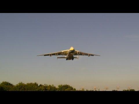 **RARE** AN-225 Mriya Arrives Into EMA From Riga 12/06/14