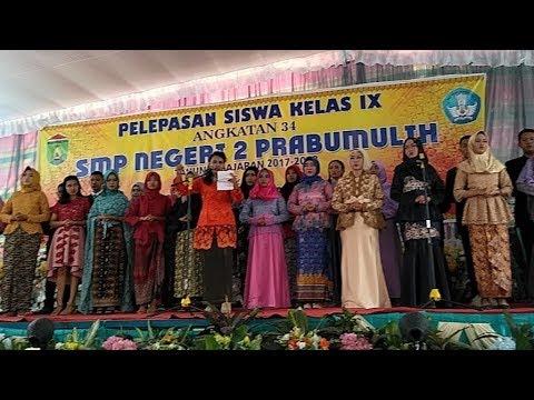 Lagu Wajib Perpisahan SMP Negeri 02 Kota Prabumulih 2018.