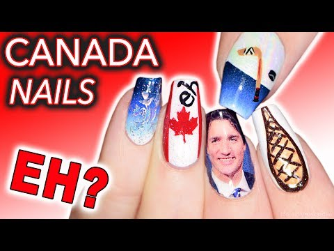 Stereotypical Canadian Nails (it's aboot time)