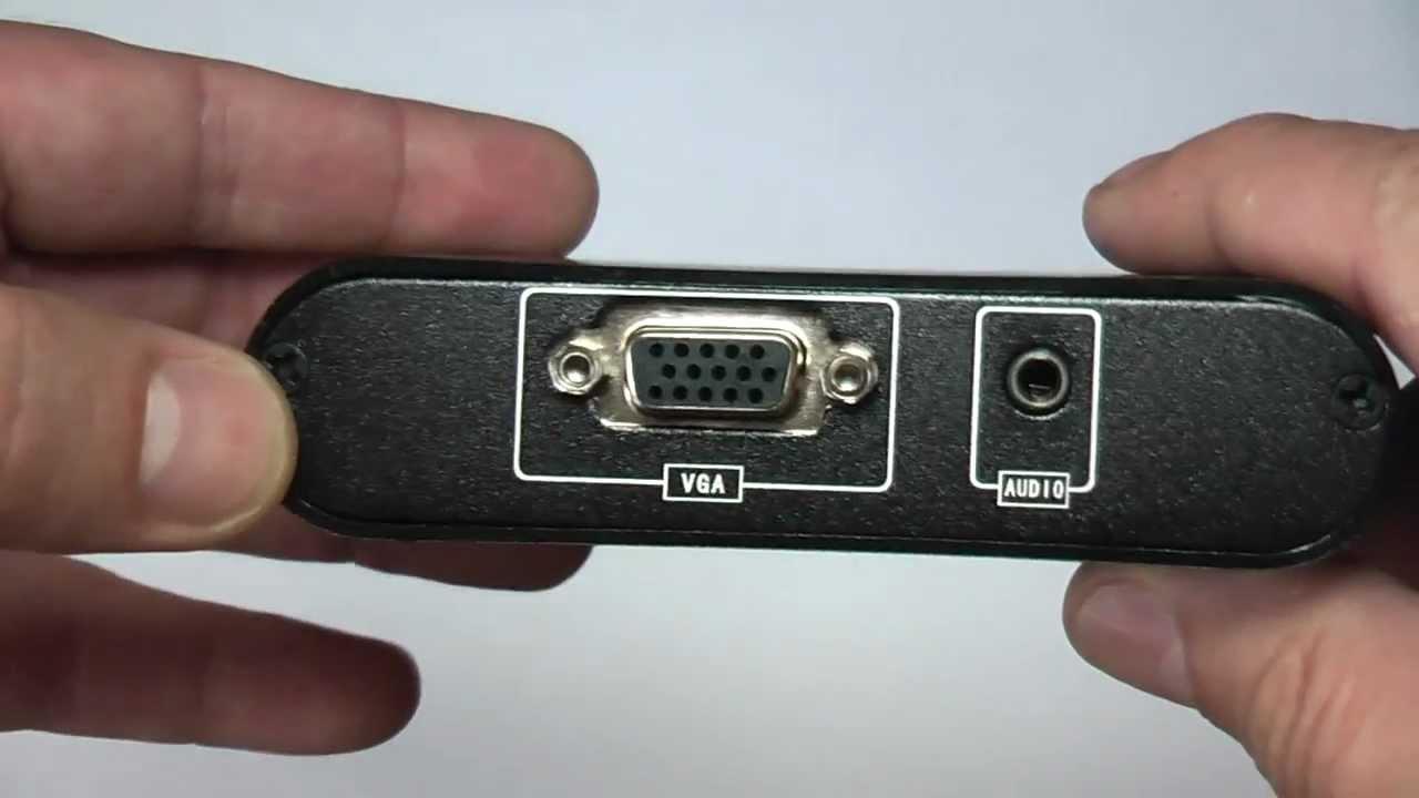 Переходник с HDMI на VGA + RCA - YouTube