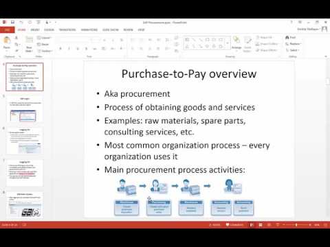SAP Procurement Part 1