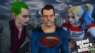 The JOKER and HARLEY QUINN steal SUPERMAN POWERS (GTA 5 Mods)