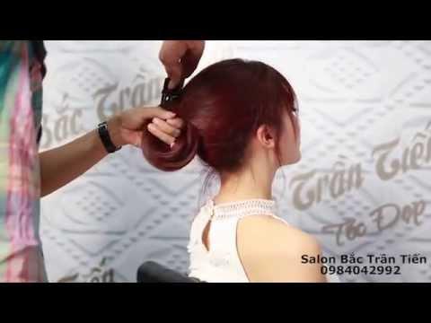 Salon Bắc Trần Tiến. Hà Min! Video tóc uốn trực tiếp