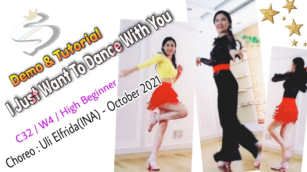 I Just Want To Dance With You-Line Dance(High Beginner)-Demo&Tutorial  #초급 #소셜차차