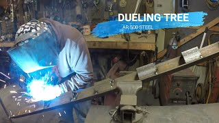 Welding up the AR500 Dueling Tree.