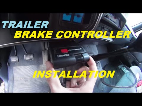 Brake Controller Installation >> Trailer brake controller installation - YouTube