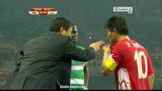 HILARIOUS!!!,,,Emanuel Eboue speaking korean in WC10!!!....funny football