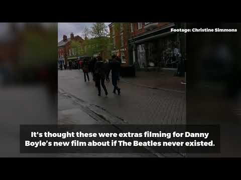 Extras spotted in Halesworth for Danny Boyle's new Beatles film