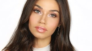 Rose Champagne Glow Makeup | Fresh & Natural Daytime Makeup Look | Eman