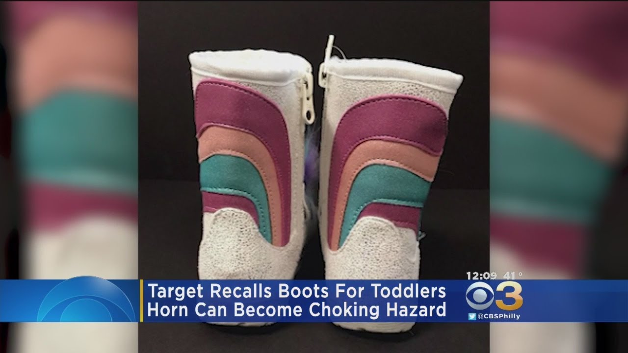 c83927a30436 Target Recalls Unicorn Boots For Toddlers - YouTube