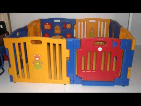 baby kids playpen 8 panel play center safety yard pen youtube