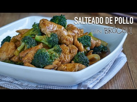 Salteado de pollo con brócoli - Chicken with Broccoli Stir Fry Recipe