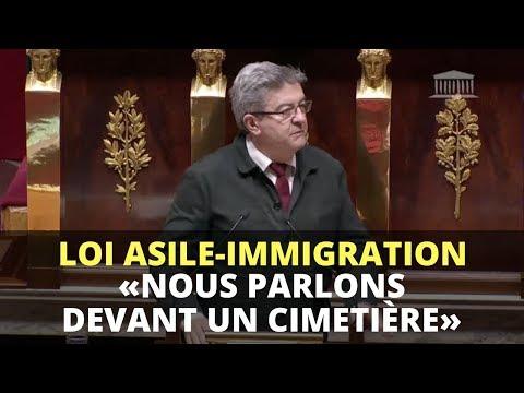 LOI ASILE-IMMIGRATION : «Nous parlons devant un cimetière» - Mélenchon