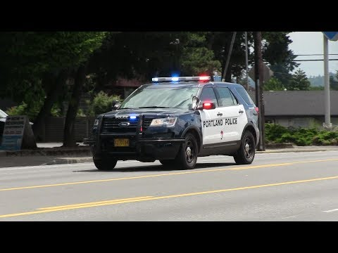 2x Ford Police Interceptor Utility responding - Portland Police Department