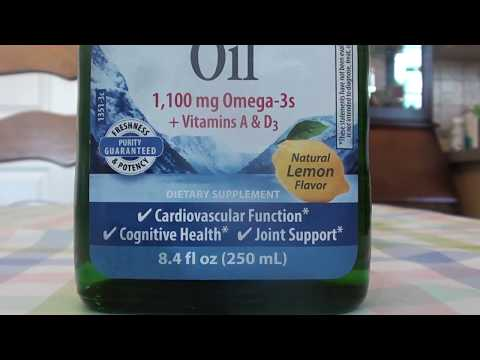 Carlson Norwegian Cod Liver Oil Lemon Omega 3, Vitamins A&D3 REVIEW