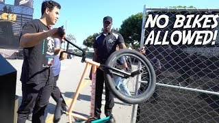 NO BIKES ALLOWED AT THE LONG BEACH DEW TOUR!