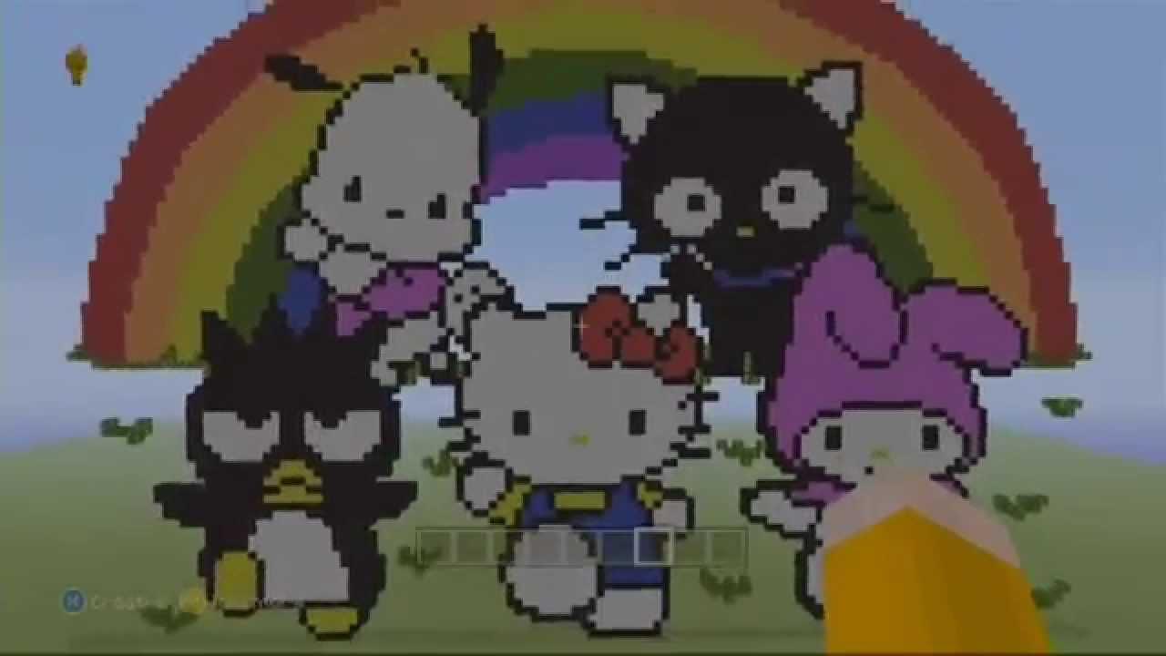 Hello Kitty MINECRAFT Pixel Art Hello Kitty MC Pixel