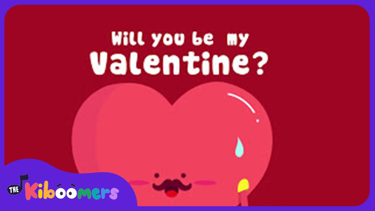 5 little hearts valentine days | song lyrics video for kids | the