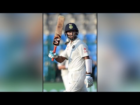 Cheteshwar Pujara hits century against New Zealand in 3rd test match | वनइंडिया हिन्दी