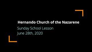 Sunday School Lesson | June 28th, 2020
