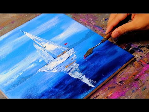 Sail Boats  Abstract Painting for Beginners