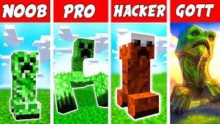 Minecraft NOOB vs. PRO vs. HACKER vs. GOTT: CREEPER+ MUTANTEN in Minecraft