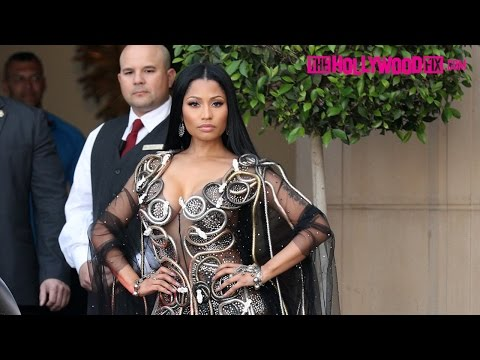 Nicki Minaj Wears A Snake Dress While Leaving The Montage Hotel In Beverly Hills 4.3.17