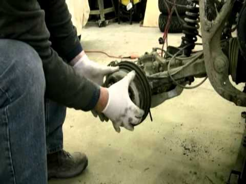 Removing The Rear Brake Drum Amp Shoes On Grizzly 600 Youtube