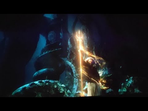AQUAMAN GETTING TRIDENT AND FIGHTING KARATHEN Scene In 1080p HD