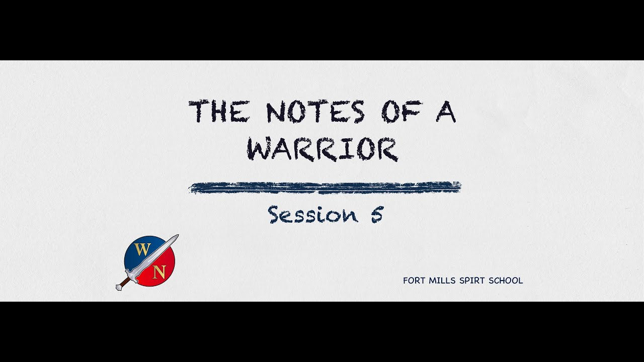 The Notes Of A Warrior Session 5 -  Ft Mill - Kevin Zadai