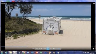 Cooloola 4x4 Caravans and Tugs - Going On & Off Beach